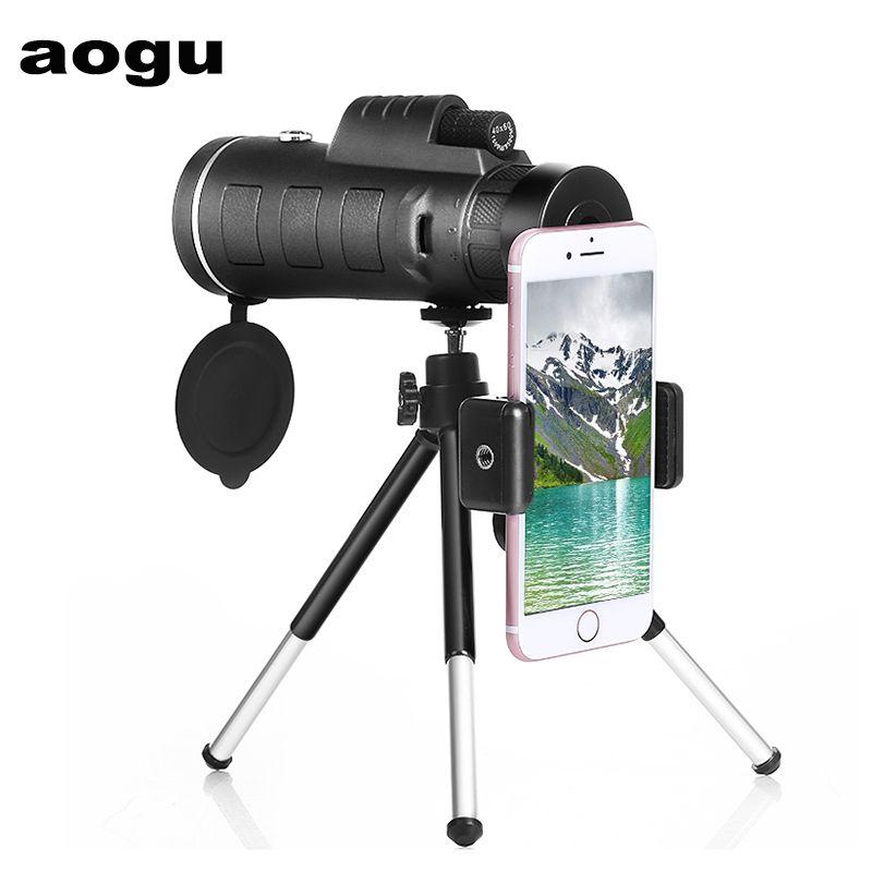 AOGU HOT HD Высокая Клушивая Сила Настоптинг Сила Настоппинг / Телескоп Окуляр Монокуляр Телескоп для путешествий Открытый LJ201114