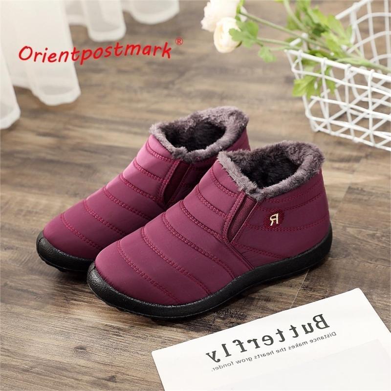 Женщины зимние сапоги унисекс пары снежные ботинки женщины лодыжки обувь новая мода цвет женские лодыжки сапоги водонепроницаемые ботинки поддерживают теплый 201027