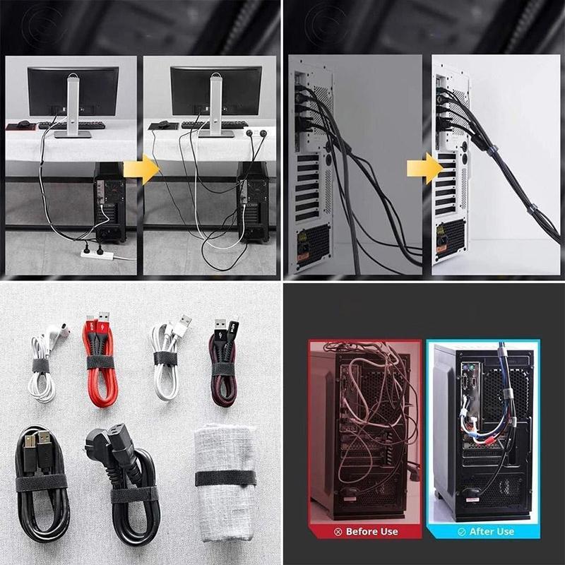 5 pezzi / lotto Auto attacco Cavo in nylon Ties Gancio-and-Loop Cable Stoccaggio Nastro organizzatore per cavo Nastro ad avvolgitore Accessori Accessori 2016