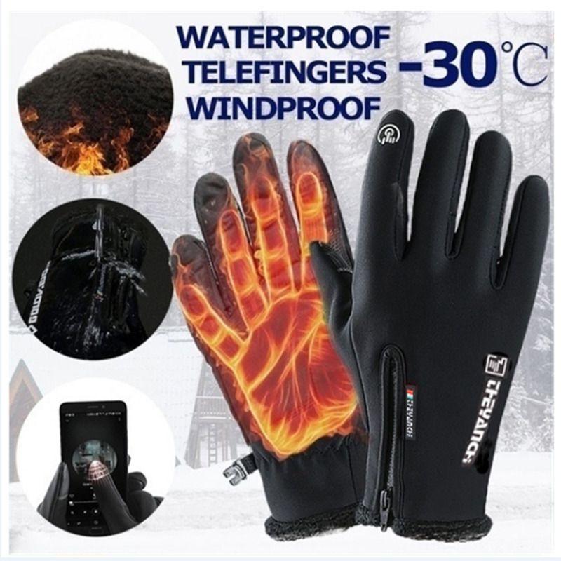 su geçirmez dokunmatik ekran erkekler ve kadınlar eldiven rüzgar geçirmez sıcak sürme açık hava sporları fermuar Sonbahar kış