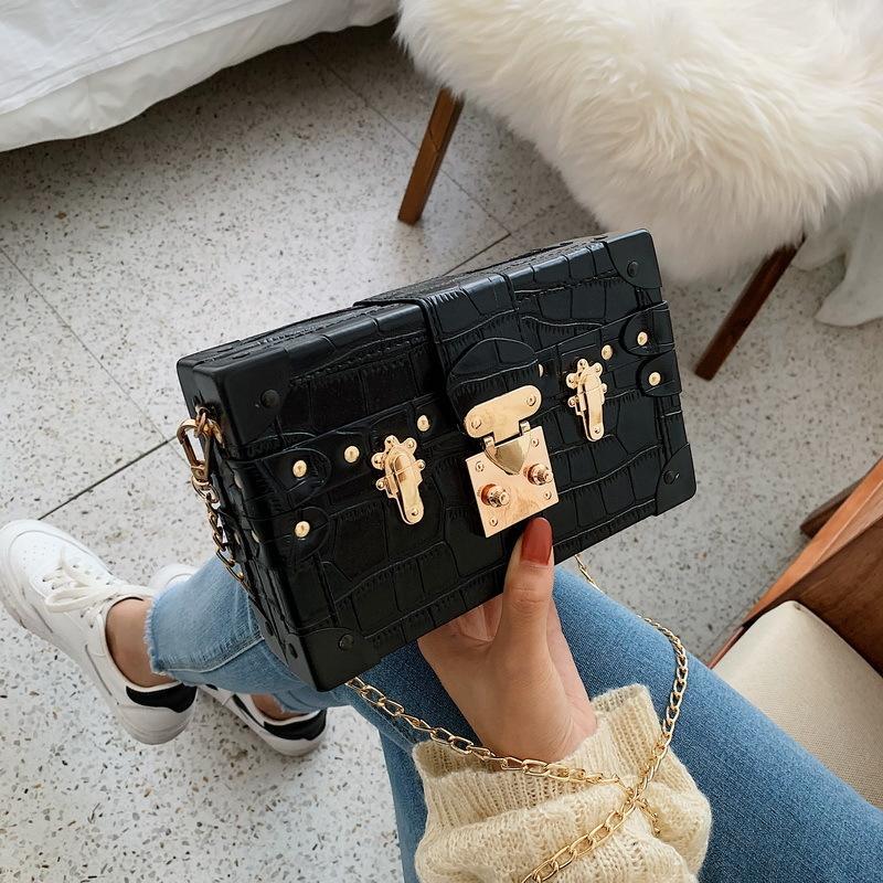 Toposhine Stone Pattern Donne Borse 2020 Nuove catene popolari Ladies Borsa a tracolla BAG CANDY Colore Female Borsa Fashion Girl Messenger Bag C1223