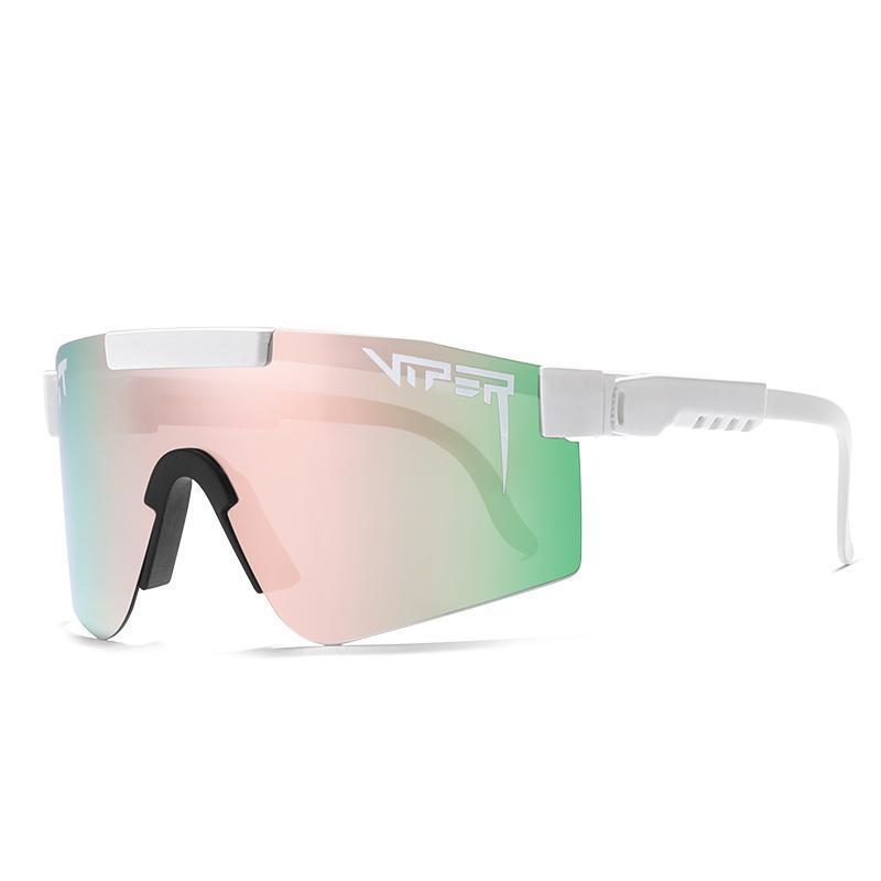 Esporte VIPER TR90 Pão polarizado rosa para homens / mulheres óculos de sol lente pv01-c3 espelhou quadro à prova de vento Xevuw