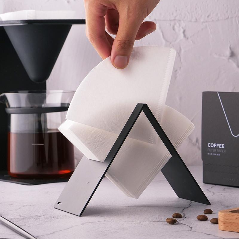 Aço Inoxidável V60 Filtro de Café Filtro de Papel Fã Criativo Em forma de Papel Toalha de Armazenamento Caixa de Tecido Casa de Tecido Ferramentas