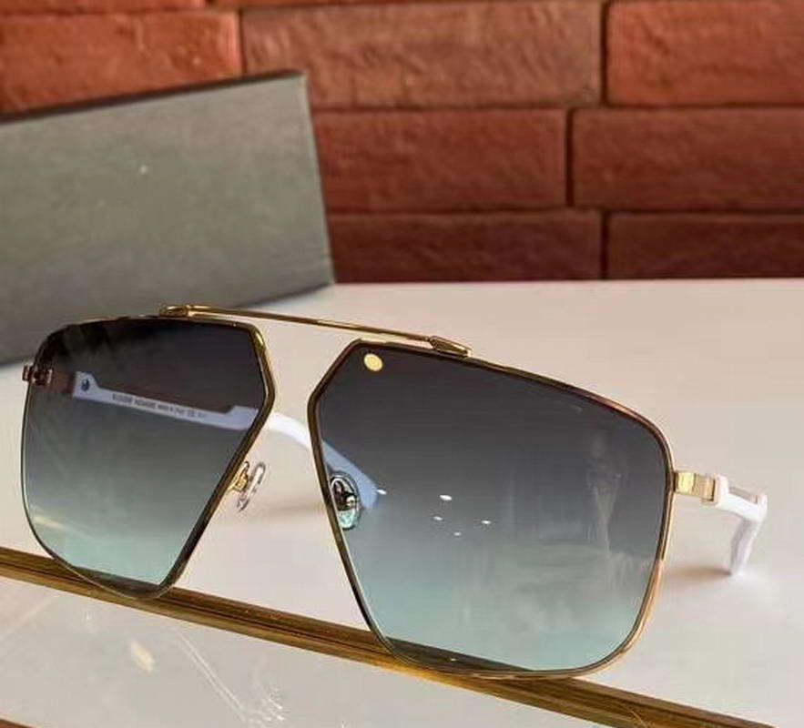 Золото Белый Зеленый Мужчины Пилотные Солнцезащитные очки Street Солнцезащитные очки Мода Дизайн Солнцезащитные очки Оттенки новые с коробкой