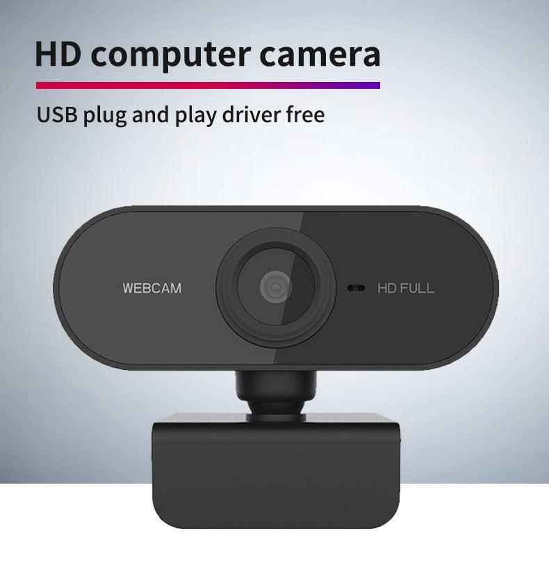 Webcam HD 1080P mini Computer PC WebCamera con USB Plug ruotabile telecamere per Live Broadcast Video Calling Conferenza di lavoro