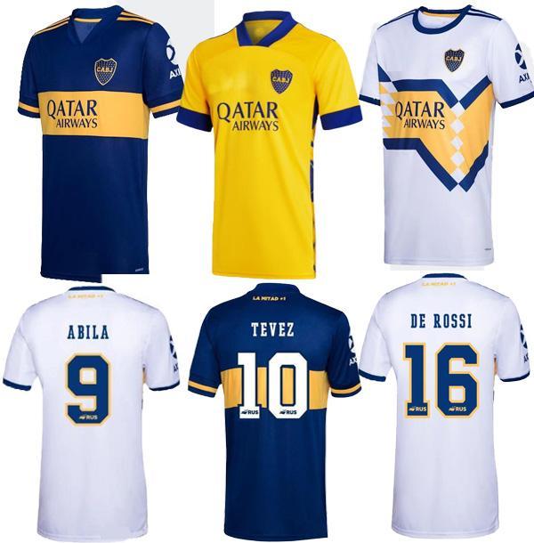 2020 Jersey Casa Fora camisa de futebol 2021 Boca Juniors futebol Boca Juniors GAGO OSVALDO CARLITOS PEREZ DE ROSSI TEVEZ PAVON JRS MEN