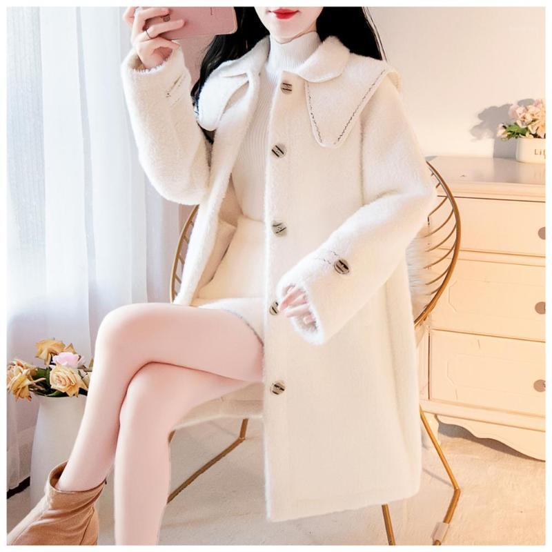 SweetXue 2020 осень осень зима мода женские пальто женский куртка отворотный шерстяной двойной воротник прекрасный пальто верхней одежды1