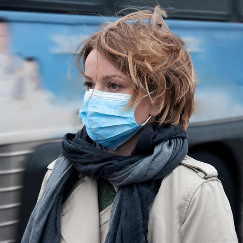 Protection du visage Masque de protection à Whosale jetable Masque de protection 3 PLY Non-tissé Bactéries Respirant Masque à l'épreuve de S