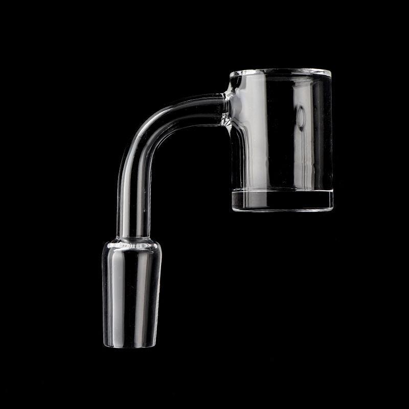 New Beveled Edge Quartz Banger 4mm Bottom 25mmOD 2mm Wall Quartz Banger Female Male 10mm 14mm 18mm Quartz Nail For Glass Water Bongs