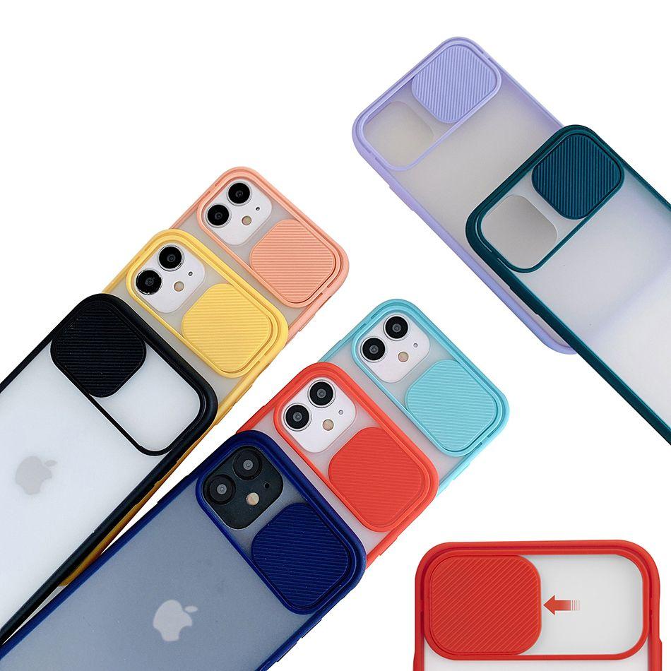 Caméra couvercle coulissant transparent mat CamShield Lens protection pour iPhone 12 Mini 11 Pro XS Max XR X 6 7 8 Plus
