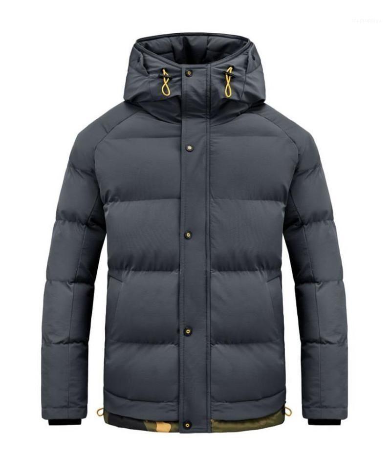 Moda masculina jaqueta inverno grosso casaco com capuz homens À prova de ventos à prova de vento homens homens parker casacos1