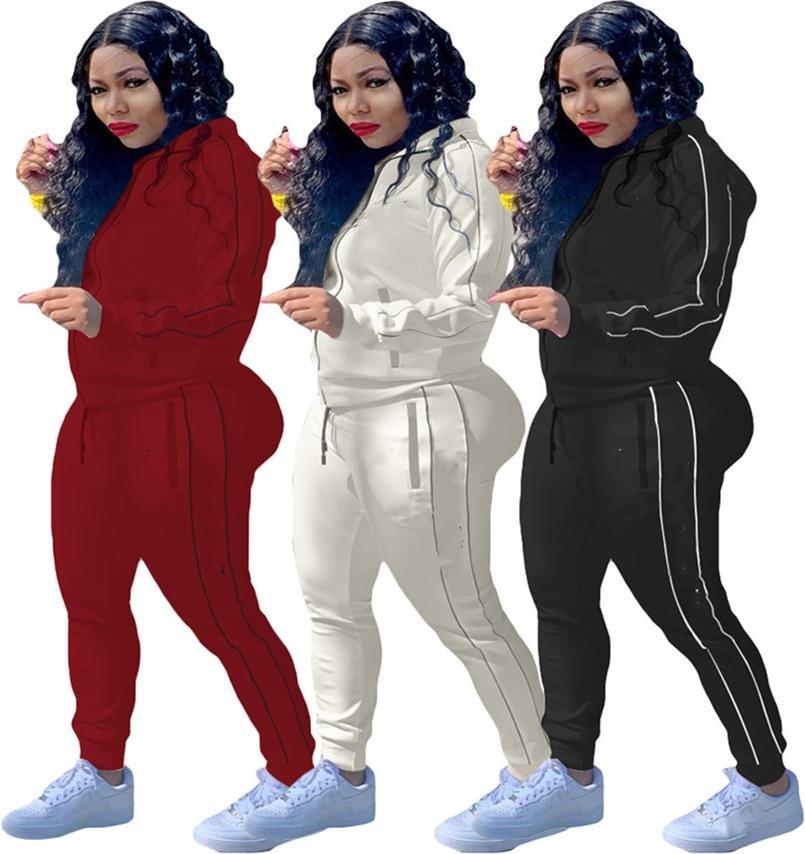 النساء رياضية مثير طويلة الأكمام 2 قطعة الرياضية اللياقة البدنية مريحة ملابس فاخرة بسيطة جودة عالية فريدة بسيطة klw5129