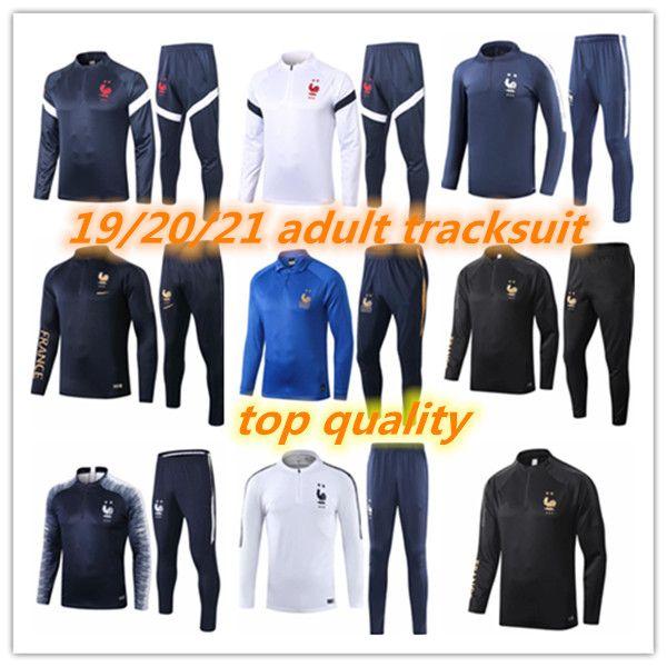 20 21 2Stars Französischer Erwachsener Trainingsanzug Mbappe GRIEZMANN Surveetement Football Jogging Equipe de French 2019 2020 2021 Fussball Training Anzug