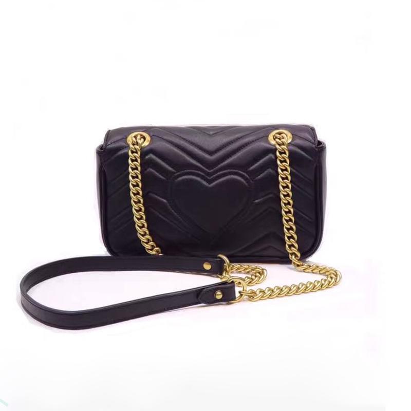 Bolsos de cuero de oro en oro, ON MARMONT 19 Flap de Handb Bolsos Bandolera Mujer Crossbody Slje Negro Mini Pochette Artsy Genuine Chai FTWK