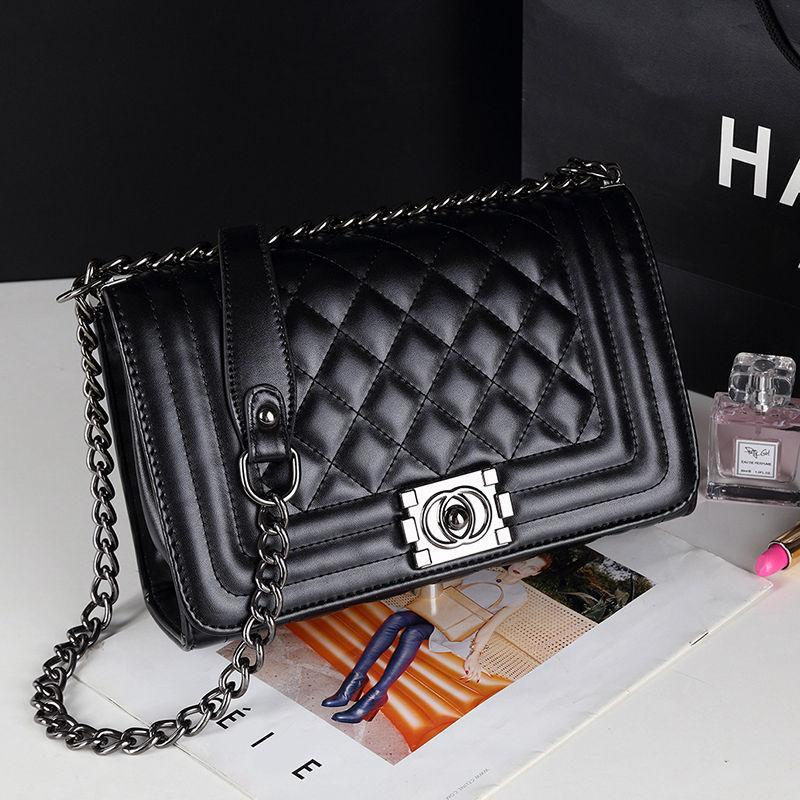 Sacs à main de luxe Lady De luxe Brand Sac à bandoulière pour femmes pour femmes Sacs de chaîne en cuir PU de haute qualité