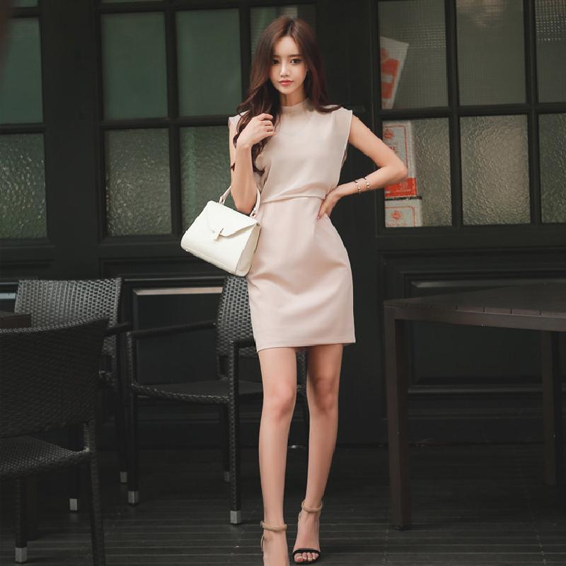 2020 лета новых профессиональных знаменитости платья шифон дама рукавов мода тонкой талия сумка бедро один шаг юбка