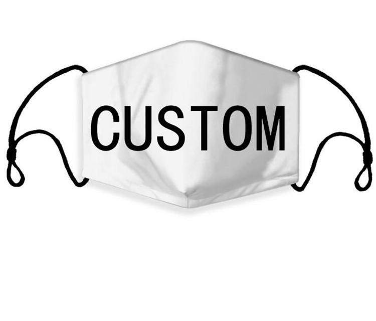 DHL에 의하여 DIY 사용자 정의 로고 성인 얼굴 마스크 재사용 빨 통기성 패션 축구 농구 디자이너 로고면 얼굴 마스크