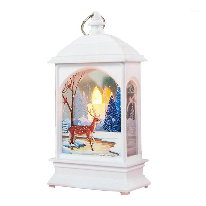 Рождественские декоративные старинные Санта-Снеговик Лол висит светлый пламя ночной светлый фестиваль светодиодный фонарь декор1