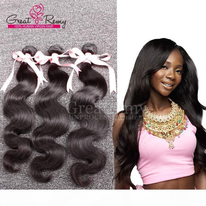Grealetremy? 3pcs lot extensions de cheveux 100% péruvien vierge cheveux 100g pc non transformé couleur naturelle cheveux humain tissage ondes de corps colorable