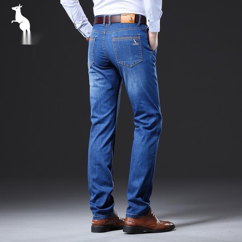 htseI 2020 рессора Повседневный jeansjeans кенгуру джинсы свободные брюки летом и случайные брюки jeansmen модно прямой и большой размер стрейч мужчин
