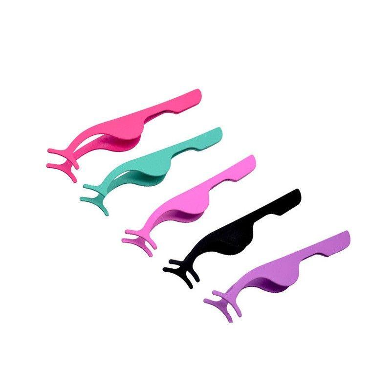 Окисление, сопротивляемая стальной накладным ресницам Пинцет Многофункциональные ресницы Curler Makeup Assistive Tools Easy Carry Hot Sale 1 2BH E2
