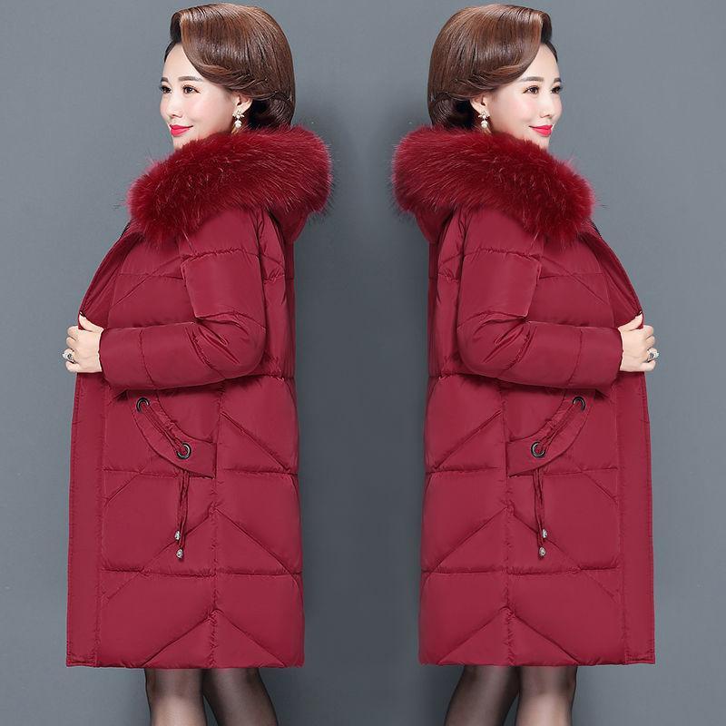 Giacca imbottita da donna a mezza lunghezza con cappotto invernale da donna 100 kg Plus size imbottita