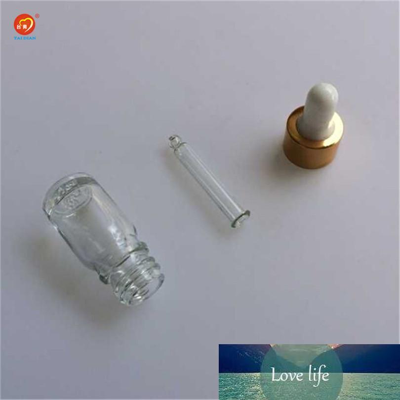 5 ml transparente al por mayor mini botella transparente de vidrio con gotero esssentail Aceite de empaquetado 24pcs Liquid E / lot