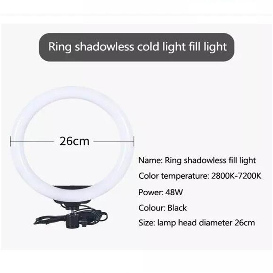 """Mini Tripod Mobile Stand Kit Live lighting Tik Tok Lights 26cm Led Selfie Stick 10"""" Circle Clamp Camera Desk Table Beauty Ring Fill Light"""