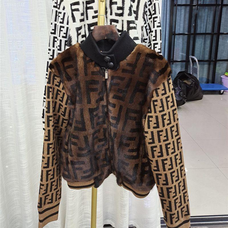 Gerçek Vizon kürk Palto Kadın Kış Sıcak Doğal Kürk Kadınlar Yeni Moda En Örme Ceket Y201001