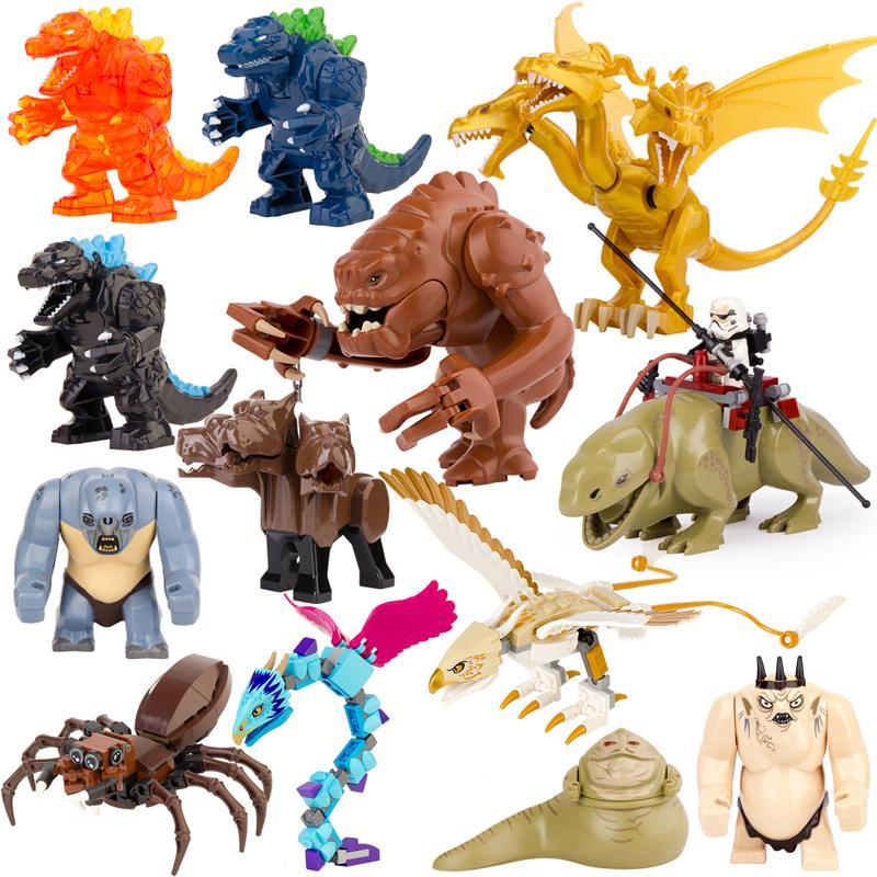 Single Sell Movie Series Troll Dewback Rancor Jabba Cerberus Big Size Building block Anime Figures Toys For Kids