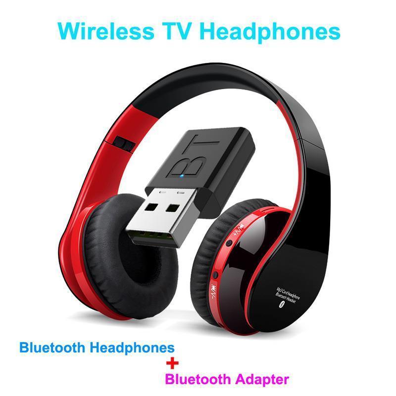 Беспроводные Bluetooth Наушники Kit ТВ Наушники Перезаряжаемый HBeadsets С Телевидение Аудио передатчик для частного Watching
