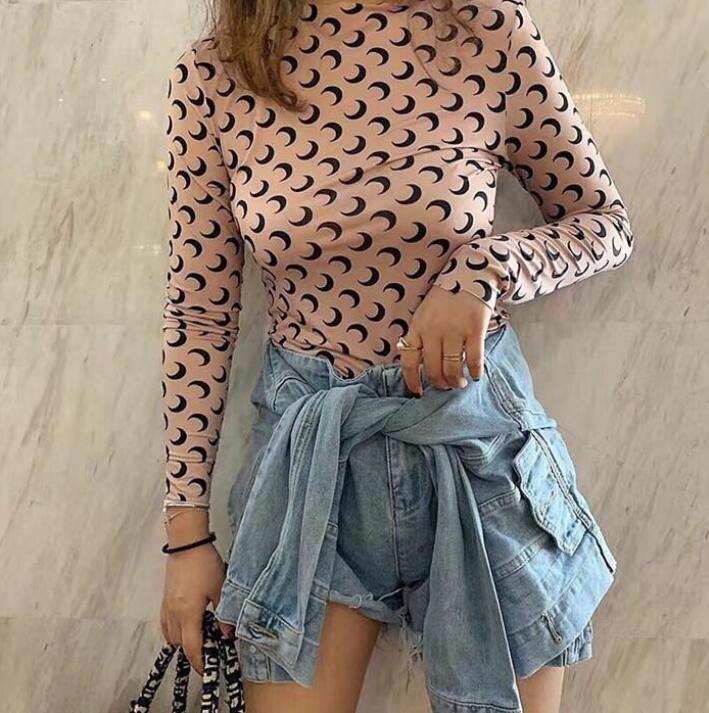 Cin amantes de las nuevas mujeres camisas Marina Serre camiseta ocasional pantalones de manga corta X Sesame Street L ropa de moda ropa exterior camisetas camiseta tops calidad