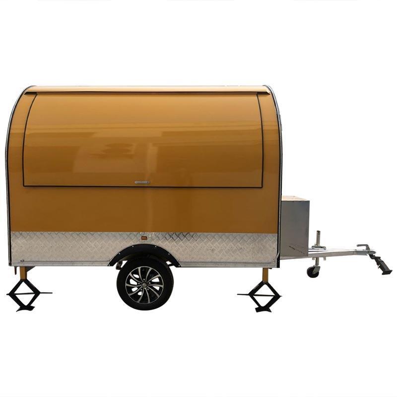 خمر موبايل الأغذية شاحنة امتياز الغذاء مقطورة