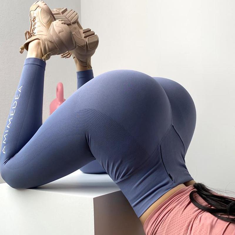 Yoga nahtlose hosen frauen bauchsteuerung laufende training turn training warm up yoga leggings hohe taille dünne gedruckt pants1