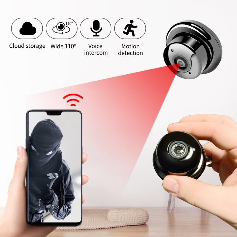 Kameralar 1080p Mini Kablosuz Wifi Kamera   Ev Güvenlik Kamerası, IP CCTV, IR Gece Görüş, Hareket Algılama, Bebek Monitörü, P2P