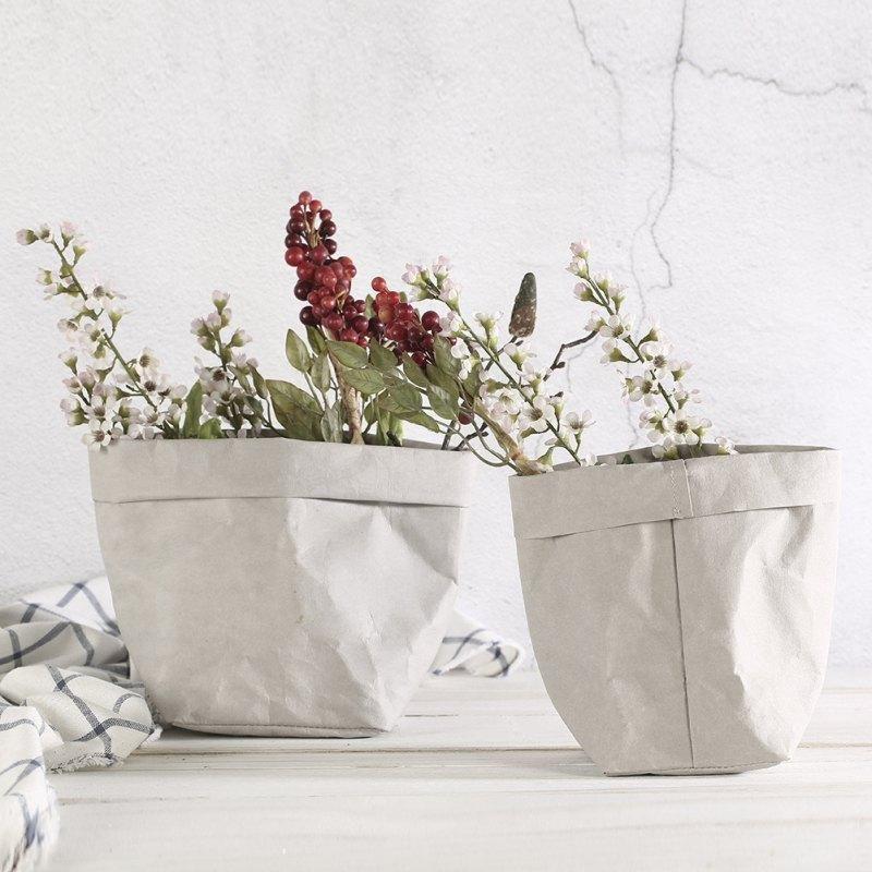 Крафт-бумага Сумки для хранения растительного растительного растения Цветочные горшки Корзины Главная Хранение Организация Суккуленты Моющиеся сумки ZTOU