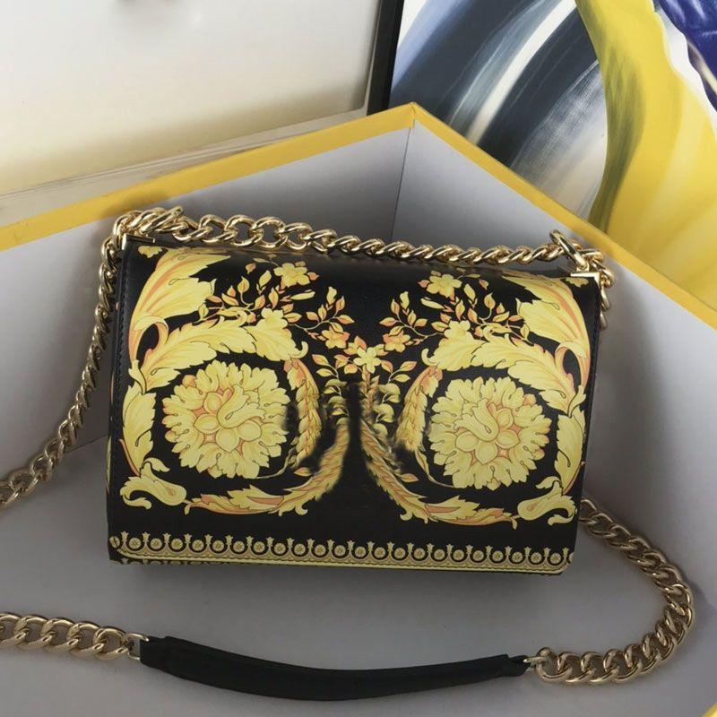 체인 크로스 바디 가방 핸드백 지갑 정품 가죽 가방 지갑 패션 고품질 인쇄 아트웍 컬러 메신저 가방 무료 배송