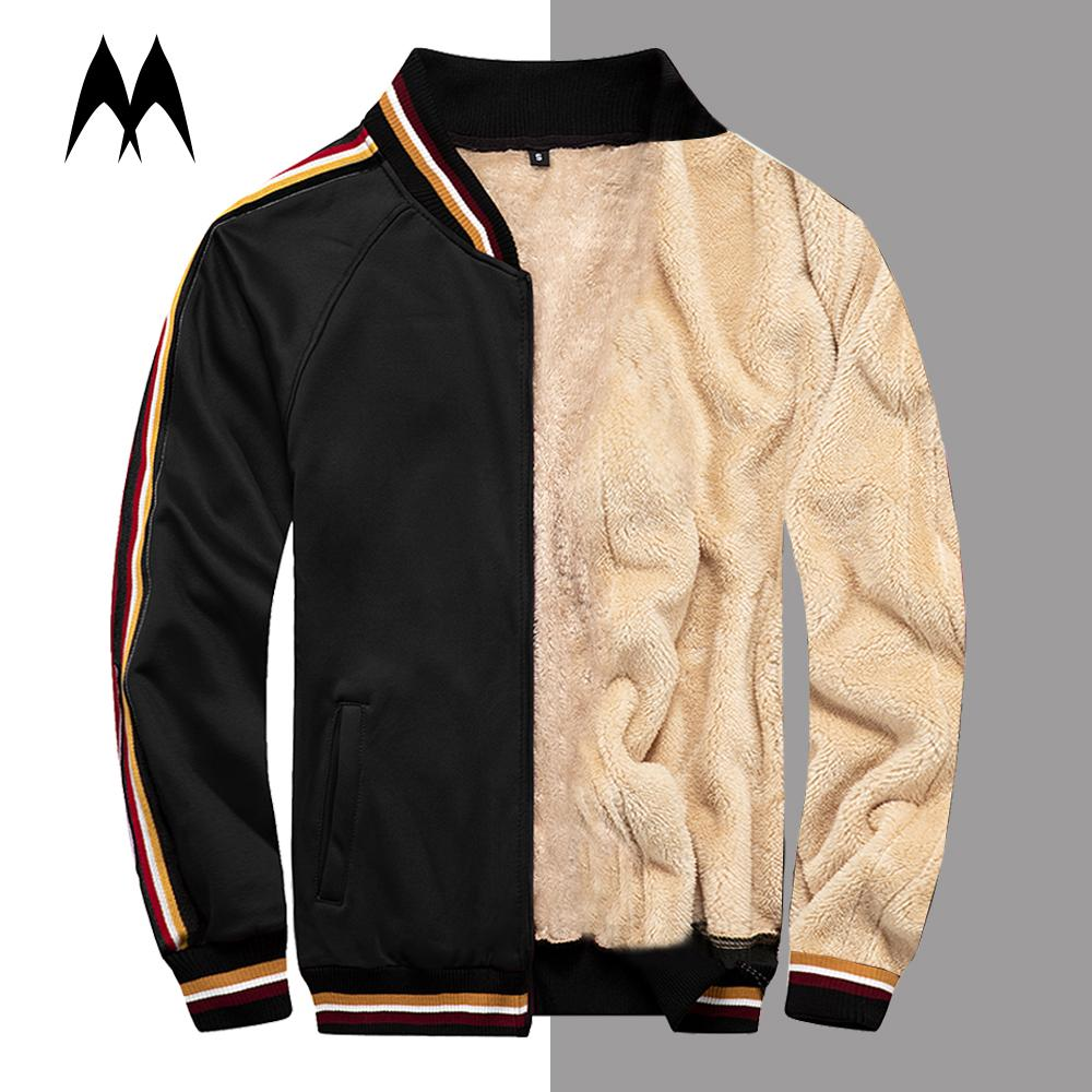 Winter Stand Collar Men Coat 2020 Brand New Fleece Lined Bomber Men Zipper Jacket Windbreaker Baseball Man