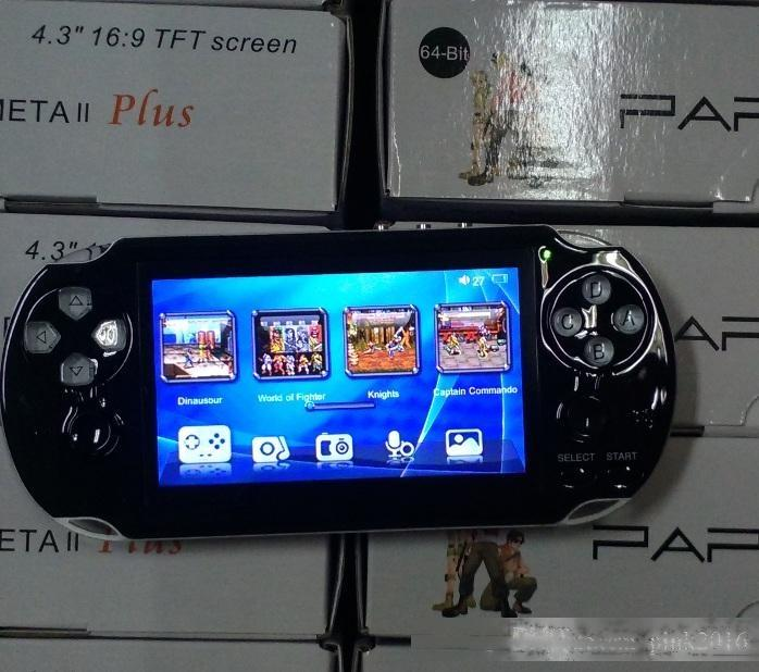 PAP GAMETA II PLUS 16GB HDMI 64bit Games MP4 MP5 TV Consolas de juegos portátil Player Player Player TV Out Cámara E-book PVP PXP3 PVP GB Boy