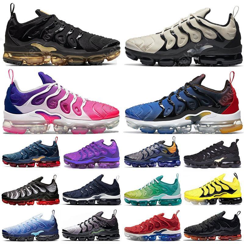 vapormax tn Plus vapor max BÜYÜK BOY 13 Pembe Metalik Altın erkek koşu ayakkabıları Coquettish Mor Hiper Menekşe Limon Kireç Kadın spor eğitmenleri spor ayakkabısı
