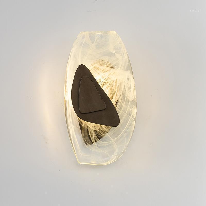현대 LED 유리 공 aplique 루즈 pared deco maison 침실 빛 광택 램프 카메라 kinging room lamp1