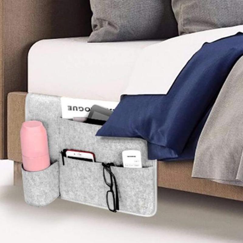 Multifunktionale Bett-Speicher-Haushalt Sofa hängend Bedside-Speicher-Beutel Filz Schreibtisch Organizer mit Taschen Phone Magazinen