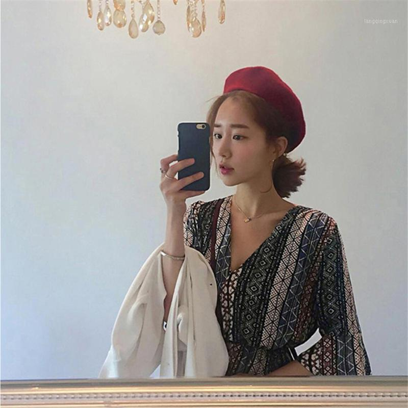 Herbst- und Winter-Koreaner und japanischer Woll-Tuch Bud-Hut britischer Winternetz-roter Maler-Hut WS-28151