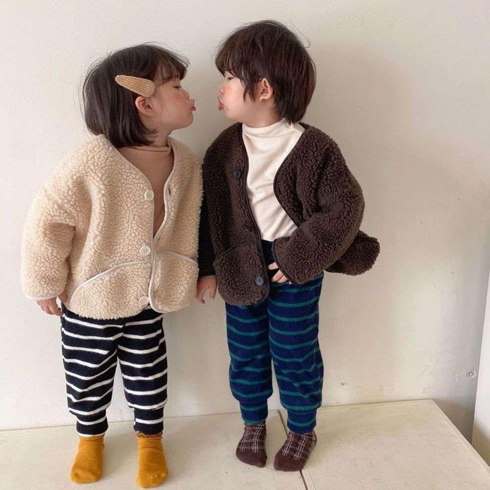 autumn Boys and girls' lambs winter cardigan 2020 new clothing Korean children's fur coat baby fashion