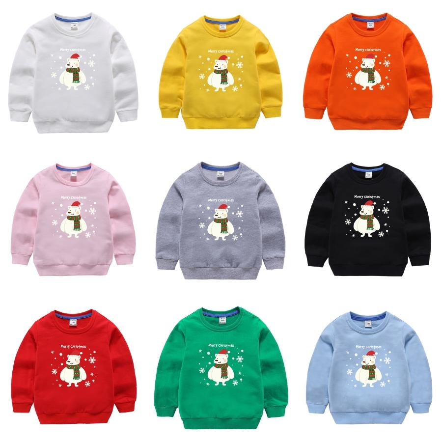 Sweaters Autumn Winter Child Holiday Red Deer Santa Claus Sweater Child Christmas Childs#415