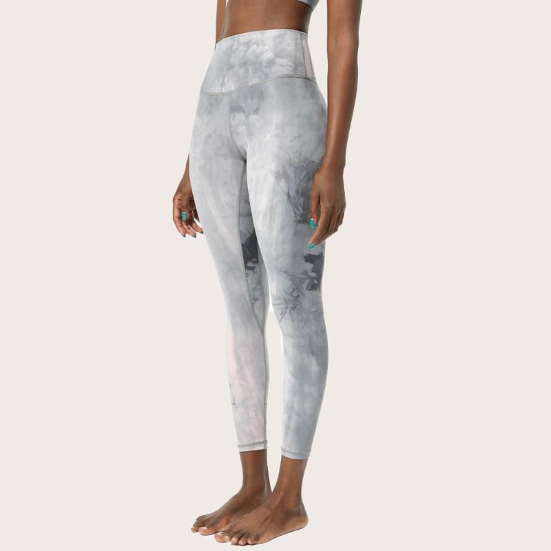 Женские леггинсы красивые галстуки спортивные фитнес бесшовные брюки для женщин двойной стороной голый Чувство высокого талии