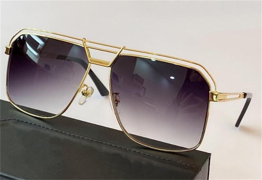 New Fashion Design Design Occhiali da sole 992 Metal Square Retro Frame Occhiali da sole Occhiali da sole Popolare Semplice Avant-Garde Stile Design tedesco con caso