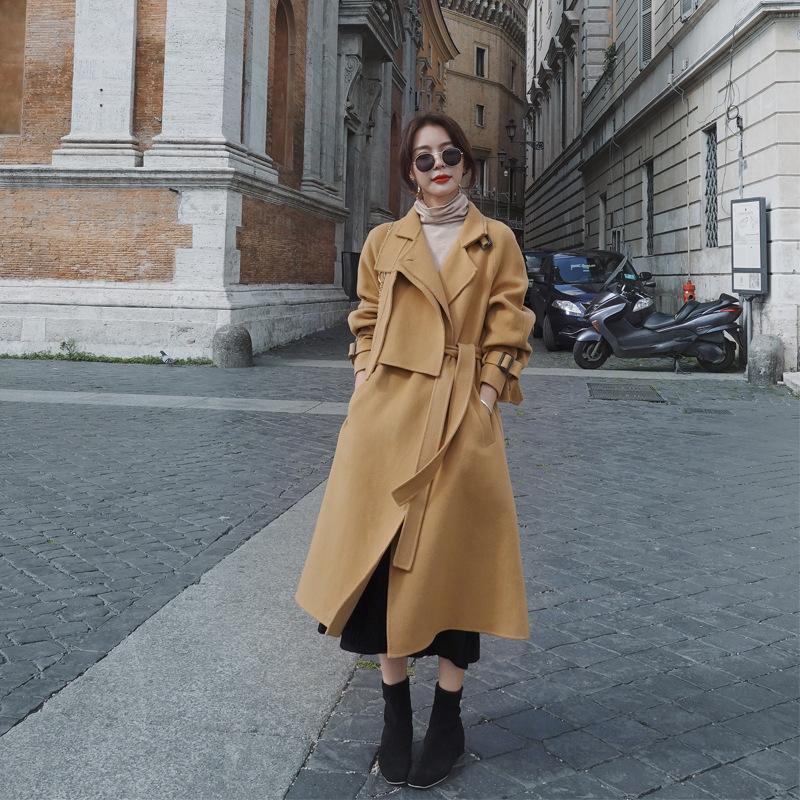 Damskie wykopy 2021 Jesienna i zimowa Płaszcz Plus Rozmiar Luźny Ciepły Długi Stand-Up Collar to regulowane kobiety