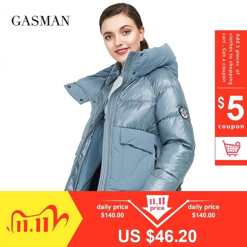 Marque GASMAN mode automne hiver femmes parka manteau de duvet patchwork à capuche veste épaisse femmes vêtements chauds doudoune nouvelle 001 201105