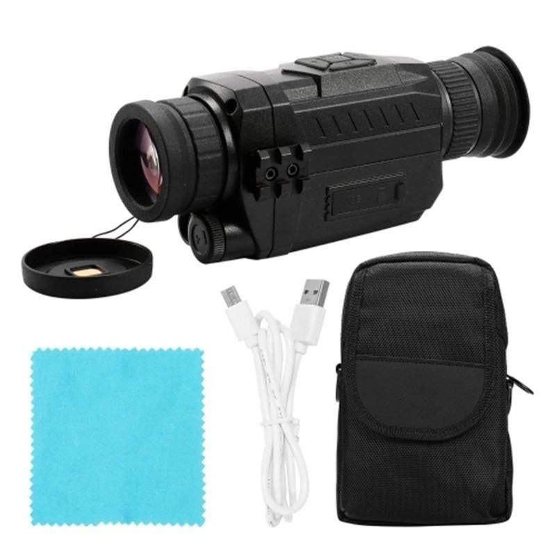كاميرات الفيديو NV0535 للرؤية الليلية 5X بصري 8x التكبير الرقمي الأشعة تحت الحمراء Vedio كاميرا 200 متر نطاق أحادي النطاق